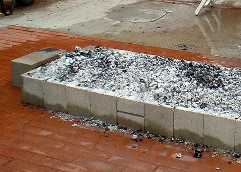 Coals were on fire