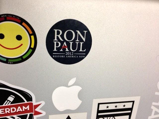 My Laptop's Ron Paul Sticker