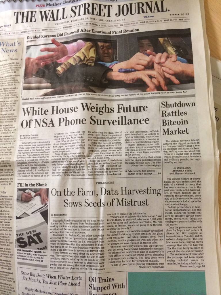 Bitcoin story in the Wall Street Journal part 2