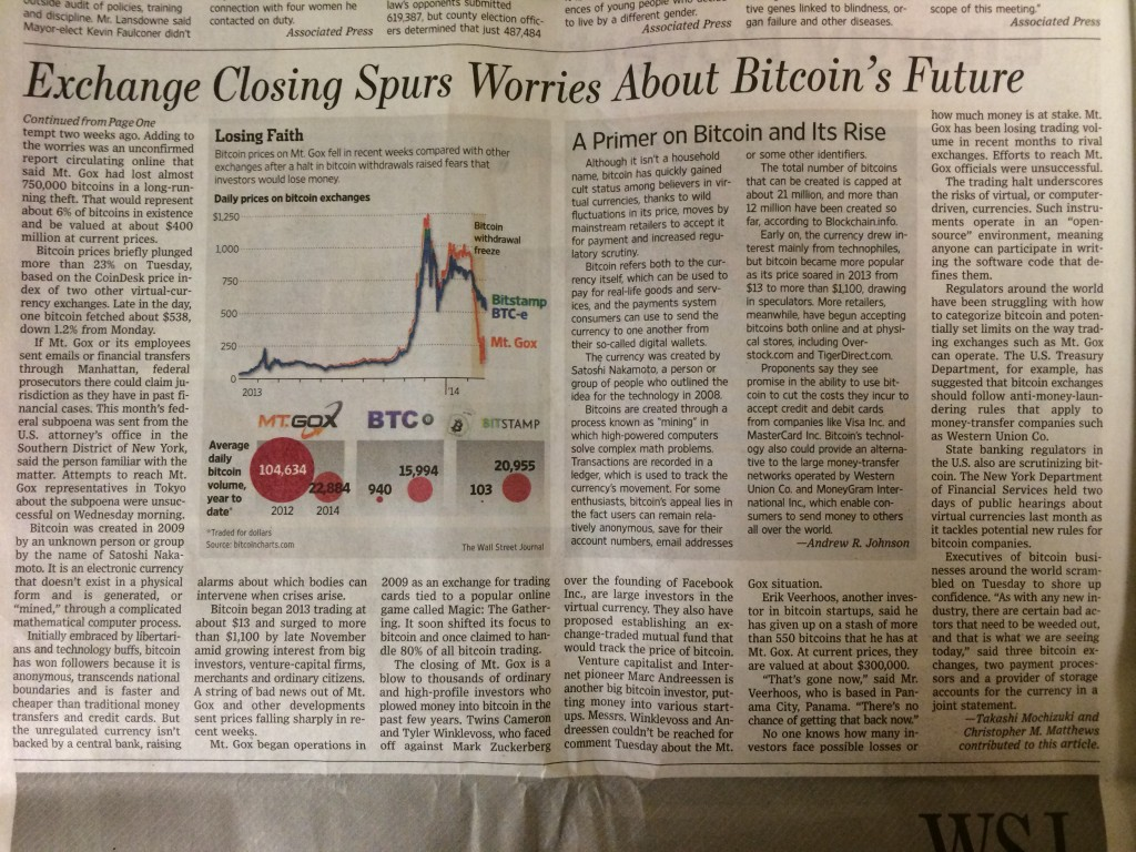 Bitcoin story in the Wall Street Journal part 3